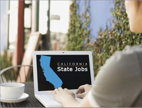 person looking up california state jobs