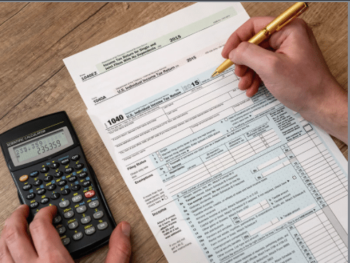 person completing federal tax form